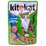 Корм для взрослых котов Kitekat с лососем в соусе 100г