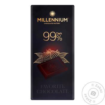 Шоколад Millenium черный 99% 100г