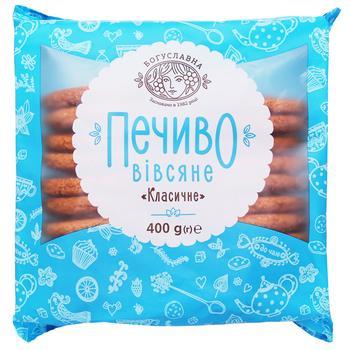 Печенье овсяное Богуславна  Классическое 400г - купить, цены на Ашан - фото 1