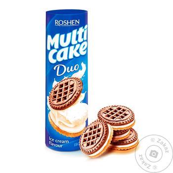 Печенье Roshen Multicake Duo со вкусом пломбира 180г - купить, цены на ЕКО Маркет - фото 1