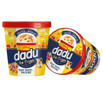 Морозиво Dadu Spain з ромовим смаком та родзинками 400мл