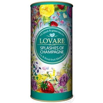 Чай Lovare Бризки Шампанського чорний та зелений листовий з ягодами та фруктами 80г - купити, ціни на МегаМаркет - фото 1