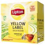 Чай чорний Lipton Yellow Label Ексклюзив у пакетиках 20шт