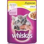 Корм Whiskas для кошенят з куркою в желе 100г