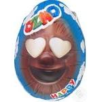 Яйце Ozmo Egg Faces з молочним щоколадом та сюрпризом 20г