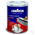 Кофе Лаваза Крема э Густо натуральный жареный молотый 250г Италия
