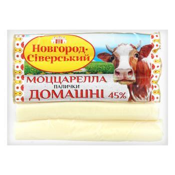 Novgorod-Siversky Cheese Mozzarella Sticks Vacuum Packing 45% 180g