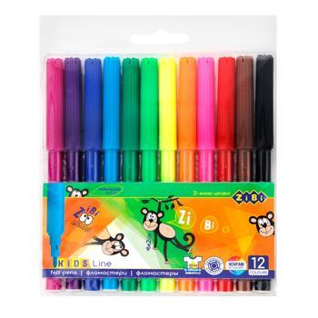 Фломастери ZiBi 12 кольорів - купити, ціни на CітіМаркет - фото 2