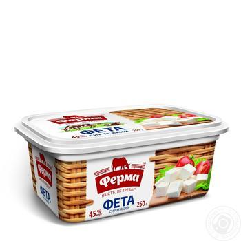 Сыр Ферма Фета 45% 250г - купить, цены на Novus - фото 1