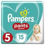 Трусики Pampers Pants 5 Junior 12-18кг 15шт