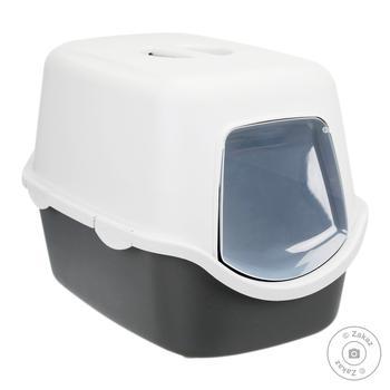 Туалет для котів Trixie закритий Vico 40x40x56см пластик колір: сірий