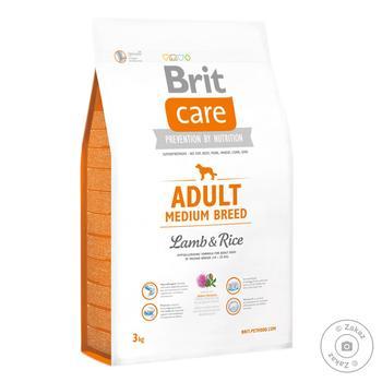Корм сухий Brit Care ягня та рис для дорослих собак середніх порід 3кг - купити, ціни на Восторг - фото 1