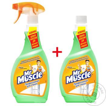 Средство Мистер Мускул для мытья стекол с нашатырным спиртом 500мл - купить, цены на Восторг - фото 2