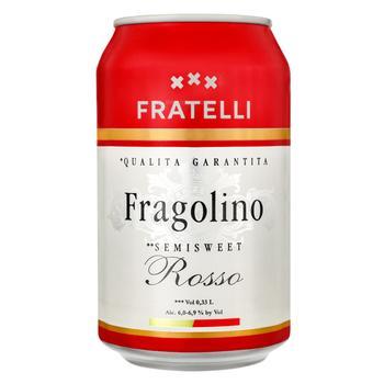 Напій ігристий Fratelli Fragolino винний червоний напівсолодкий 6-6,9% 0,33л - купити, ціни на ЕКО Маркет - фото 1