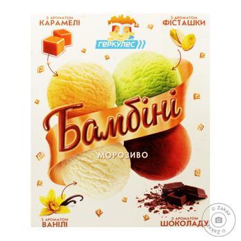 Hercules Bambini vanilla-cream-brulee-chocolate-pistachio ice-cream 500g