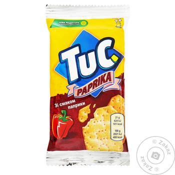 Печенье Tuc Крекер соленый с паприкой 21г - купить, цены на МегаМаркет - фото 1