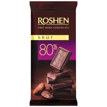 Roshen Classic Brut Dark Chocolate 80% 90g - buy, prices for Metro - photo 2