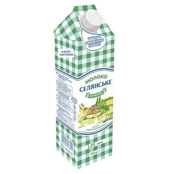 Молоко Селянське Особенное ультрапастеризованное 1.5% 950г - купить, цены на СитиМаркет - фото 1