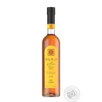 Gurji De Luxe Brandy 3 stars 40% 0,5l - buy, prices for Novus - image 1