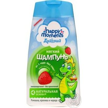 Шампунь Happy Moments Дракоша з суницею для дітей 240мл - купити, ціни на Ашан - фото 1
