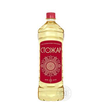 Олія соняшникова Стожар рафінована дезодорована виморожена марки П 0,87л - купити, ціни на Novus - фото 1