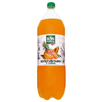 Напиток Бон Буассон Мультивитамин безалкогольный сокосодержащий сильногазированный пластиковая бутылка 2000мл Украина - купить, цены на Фуршет - фото 1
