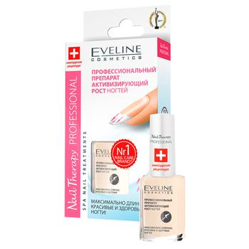 Лак Eveline Nail Therapy Professional Активатор роста ногтей 12 мл - купить, цены на Ашан - фото 1