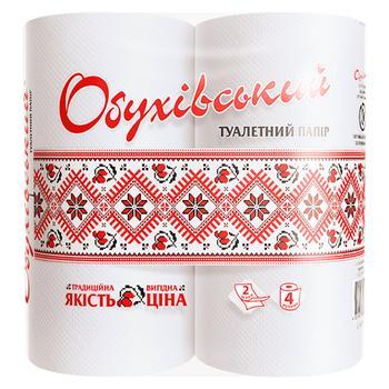 Папір Обухівська туалет.білий 2шар.н/гільз.4рул.