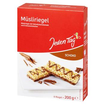 Jeden Tag Muesli Bar With Chocolate 200g - buy, prices for Furshet - image 1