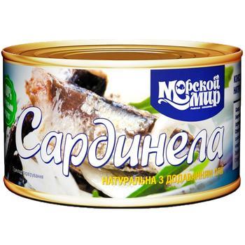 Сардинела Морской Мир натуральная с добавлением масла 240г - купить, цены на Varus - фото 1