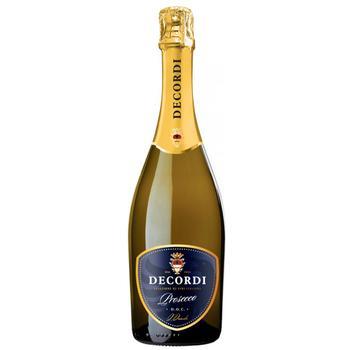 Вино ігристе Decordi Prosecco біле сухе 11% 0,75л - купити, ціни на CітіМаркет - фото 1