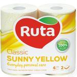 Папір туалетний Ruta Aroma Персик жовтий 2-шаровий 4шт - купити, ціни на Novus - фото 1