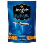 Кофе Ambassador Blue Label натуральный растворимый сублимированный 75г