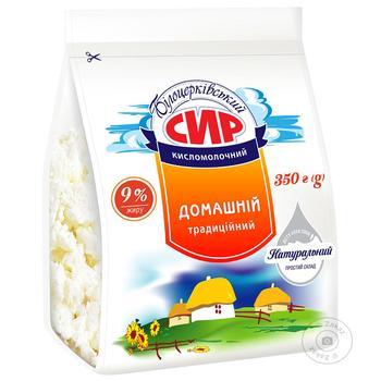 Творог Белоцерковский Домашний 9% пакет 400г - купить, цены на Фуршет - фото 1