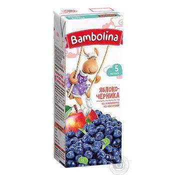Сок Bambolina Яблоко-черника 200мл - купить, цены на Фуршет - фото 1