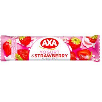 Батончик АХА зерновий йогурт з полуницею 25г - купити, ціни на Ашан - фото 1