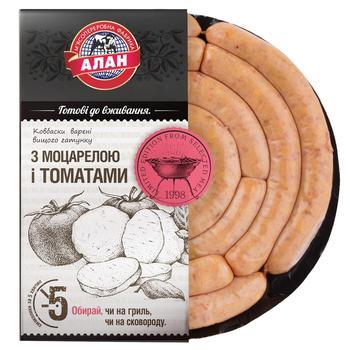 Колбаски Алан с моцареллой и томатами высшего сорта весовые