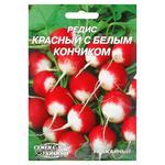 Semena Ukrainy Red with a White Tip Radish Seeds 20g
