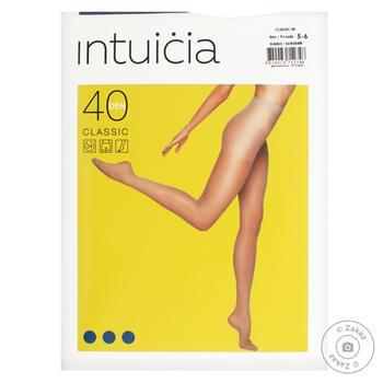 Колготы женские Intuicia Classic 40Den бежевые размер 5-6 - купить, цены на МегаМаркет - фото 1