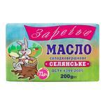 Масло Заречье Крестьянское сладкосливочное 73% 200г