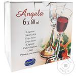 Рюмки Bohemia Angela 6шт 60мл