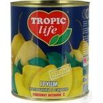 Груші Tropic Life половинки в сиропі 850мл