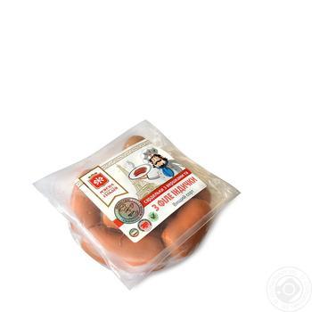 Сардельки Мясная гильдия со сливками и с филе индейки - купить, цены на Ашан - фото 1