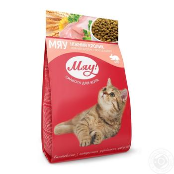 Корм сухой Мяу! для взрослых котов С кроликом 400г - купить, цены на Ашан - фото 3