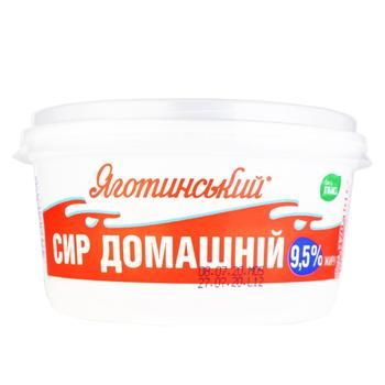 Cottage cheese Yagotynsky Homemade 9.5% 370g - buy, prices for Furshet - image 1