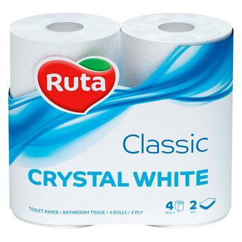 Ruta Crystal Toilet Paper White 4pcs - buy, prices for CityMarket - photo 1