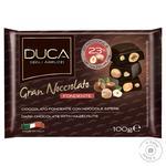 Шоколад Duca degli Abruzzi Gran Nocciolato темный с целыми лесными орехами 100г