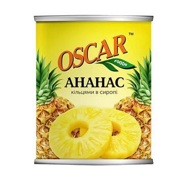 Ананаси Оскар кільцями в сиропі 565г - купити, ціни на Фуршет - фото 1