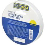 Скотч BuroMax двухсторонний на вспененной основе 18ммх2м