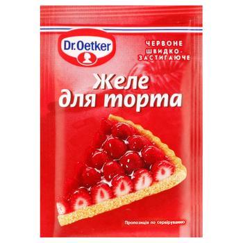 Желе Dr.Oetker для торта червоне 8г